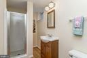 Lower level full bathroom - 7608 ARROWOOD RD, BETHESDA
