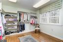 Over sized large walk in master bedroom closet - 7608 ARROWOOD RD, BETHESDA