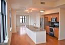 Kitchen and Living - 400 MASSACHUSETTS AVE NW #1007, WASHINGTON