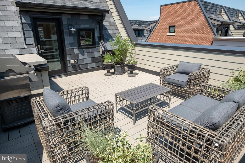 Well equipped roof deck. - 413 GUETHLERS WAY SE, WASHINGTON