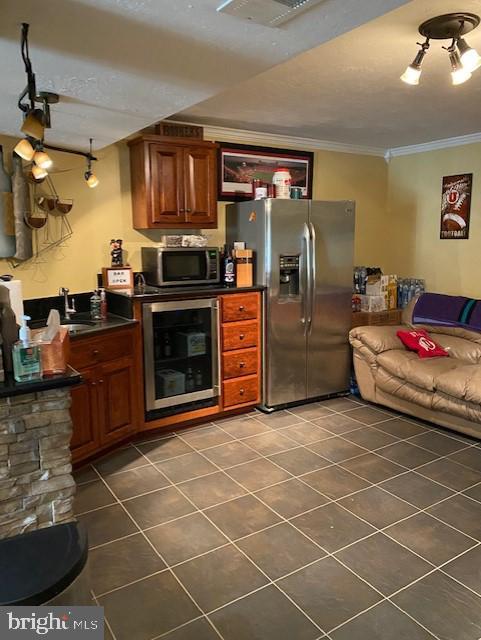 Basement Bar Area with Slate Tile Flooring - 15201 HUMBOLT BAY CT, GAINESVILLE