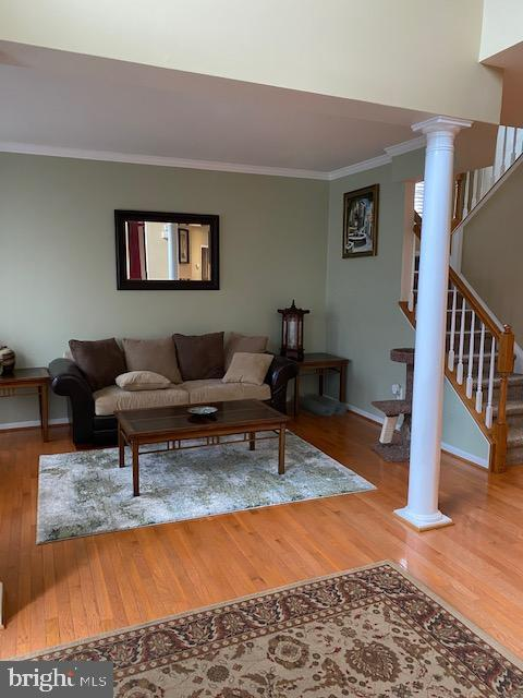 Gleaming Hardwood Floor in Foyer and Living Rm - 15201 HUMBOLT BAY CT, GAINESVILLE