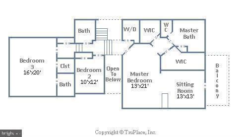 Upper Level Floor Plan - 18441 LANIER ISLAND SQ, LEESBURG