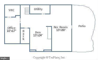 Lower Level Floor Plan - 18441 LANIER ISLAND SQ, LEESBURG