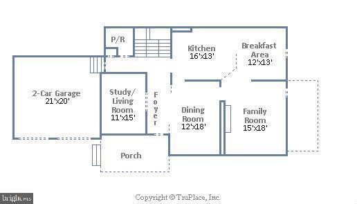 Main Level Floor Plan - 18441 LANIER ISLAND SQ, LEESBURG