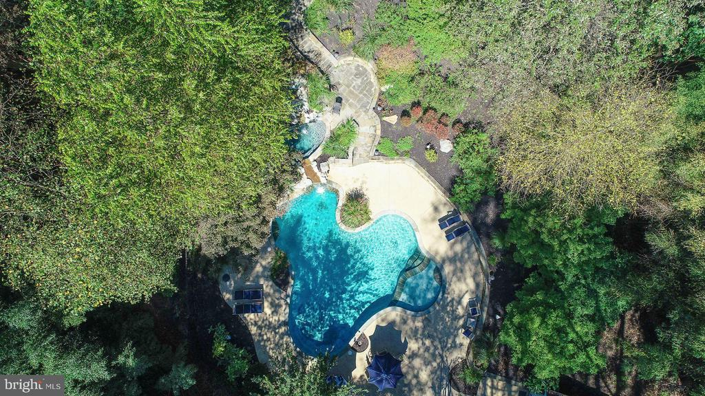 Aerial View of In-Ground Pool - 12466 KONDRUP DR, FULTON