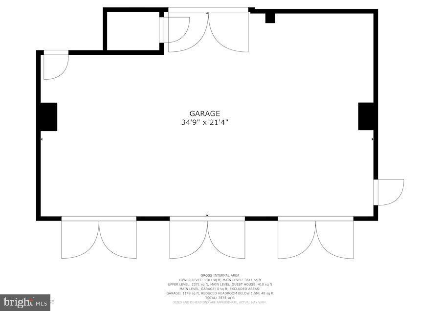 3-Car Detached Garage Floor Plan - 12466 KONDRUP DR, FULTON
