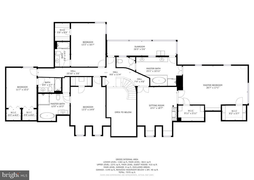 Manor House Upper Level Floor Plan - 12466 KONDRUP DR, FULTON