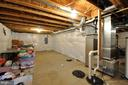 Unfinished Basement w/ Rough In for Full Bath - 10026 WILLOW RIDGE WAY, SPOTSYLVANIA