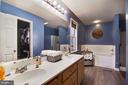 Beautiful Master bath with tub shower and closet! - 6765 BALMORAL RDG, NEW MARKET