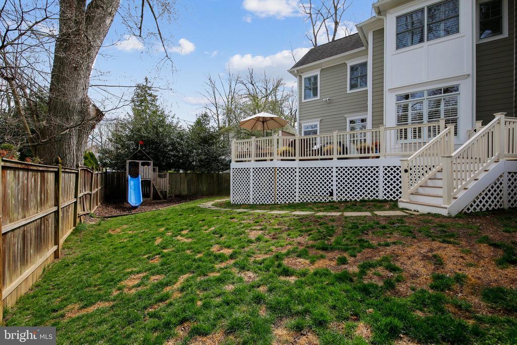 Backyard - 7731 OLDCHESTER RD, BETHESDA