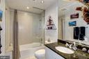 2nd/guest bathroom w/shower/tub & vanity storage - 3409 WILSON BLVD #602, ARLINGTON