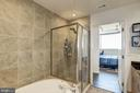 Large soaking tub & separate walk-in shower - 3409 WILSON BLVD #602, ARLINGTON