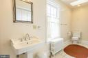 There are two full baths with tub/showers upstairs - 3374 TWYMANS MILL RD, ORANGE