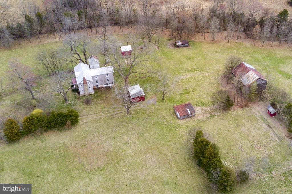 Drone shot from the side of the home - 3374 TWYMANS MILL RD, ORANGE