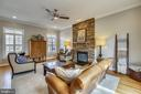 Family Room with Stone Fireplace - 7731 OLDCHESTER RD, BETHESDA