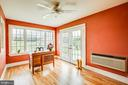 This cozy office/studio/play room leads outside - 504 POPLAR RD, FREDERICKSBURG