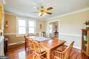 Dining room is perfect for gathering 'round - 504 POPLAR RD, FREDERICKSBURG