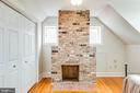 A fireplace in the bedroom is perfect - 504 POPLAR RD, FREDERICKSBURG