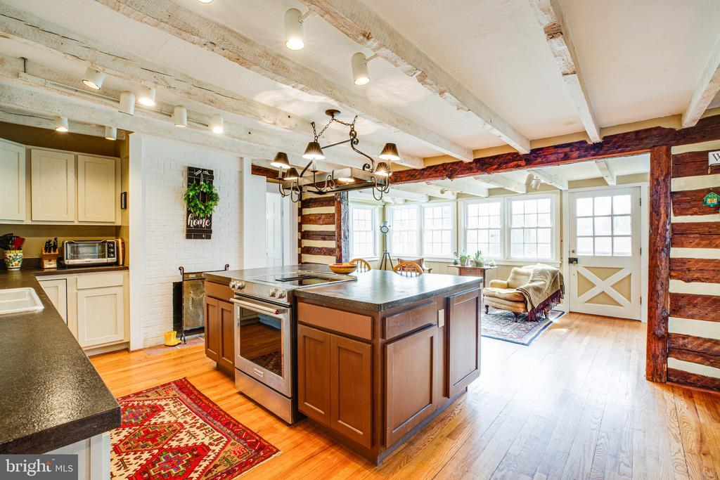 The original beamed ceiling is charming - 504 POPLAR RD, FREDERICKSBURG