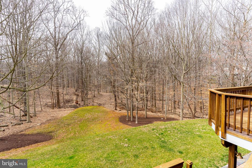 View from the Main Level Deck - 7000 FAWN TRAIL CT, BETHESDA