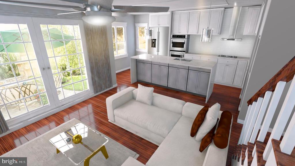 gourmet kitchen with quartz countertop - 1723 S NELSON ST, ARLINGTON
