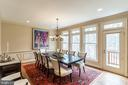 Formal Dining Room w/Access to Deck - 7000 FAWN TRAIL CT, BETHESDA