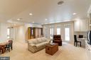Walk-out Recreation Room w/Custom Built-ins - 7000 FAWN TRAIL CT, BETHESDA