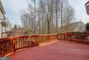 Huge deck off of kitchen - 4731 THORNBURY DR, FAIRFAX