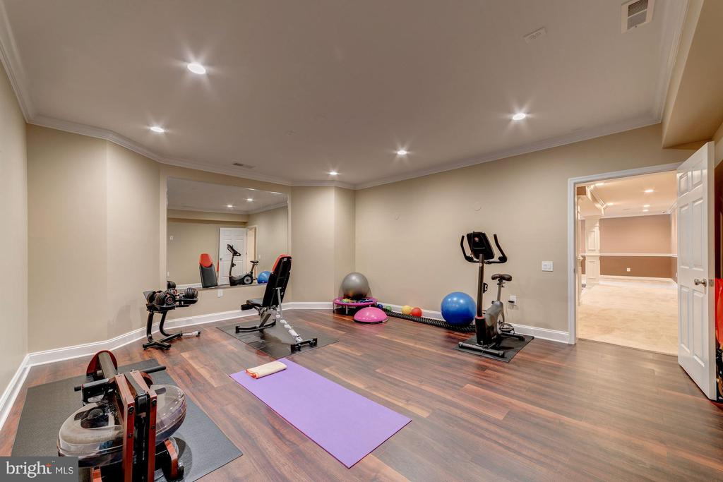 Exercise room (or home theatre) - 6204 BERNARD AVE, ALEXANDRIA