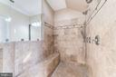 Custom shower with shower bench - 6204 BERNARD AVE, ALEXANDRIA
