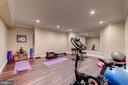 Exercise room (or home theatre) downstairs - 6204 BERNARD AVE, ALEXANDRIA