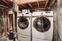 Washer/dryer & extra storage downstairs - 8110 MADRILLON SPRINGS LN, VIENNA