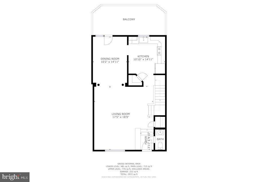 Main level floor plan - 8110 MADRILLON SPRINGS LN, VIENNA