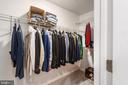 Fabulous walk in closet in the master bedroom - 6 SPRING LAKE DR, STAFFORD