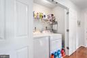 Upper level spacious laundry area w/ shelving - 6 SPRING LAKE DR, STAFFORD