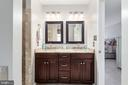 Tall vanity w/ gorgeous granite and tile - 6 SPRING LAKE DR, STAFFORD