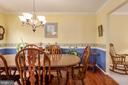 Dining room  wood floors, crown and chair molding - 6 SPRING LAKE DR, STAFFORD