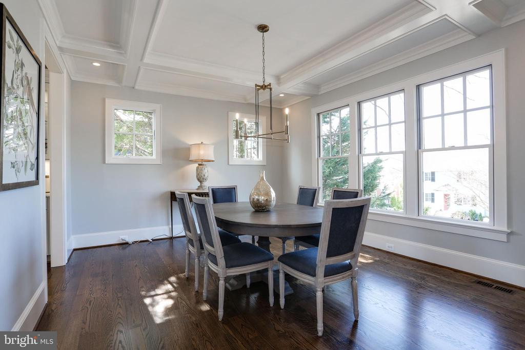 warm wood floors on the main and upper levels - 5010 25TH RD N, ARLINGTON