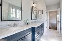 marble topped double vanities, tilting mirrors - 5010 25TH RD N, ARLINGTON