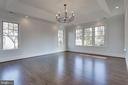 cove ceiling, chandelier, recessed lighting in MBR - 5010 25TH RD N, ARLINGTON