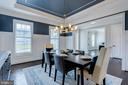 Deluxe wainscoting & feature walls in dining room - 23065 CHAMBOURCIN PL, ASHBURN