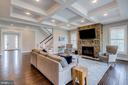 Gorgeous coffered ceiling with crown molding - 23065 CHAMBOURCIN PL, ASHBURN