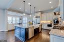 Top of the line kitchen w/designer light fixtures - 23065 CHAMBOURCIN PL, ASHBURN