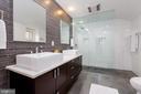 Modern master bathroom - 4311 TORCHLIGHT CIR, BETHESDA