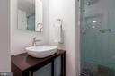 Lower level bathroom - 4311 TORCHLIGHT CIR, BETHESDA