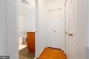 Second bedroom closet and linen closet - 4311 TORCHLIGHT CIR, BETHESDA