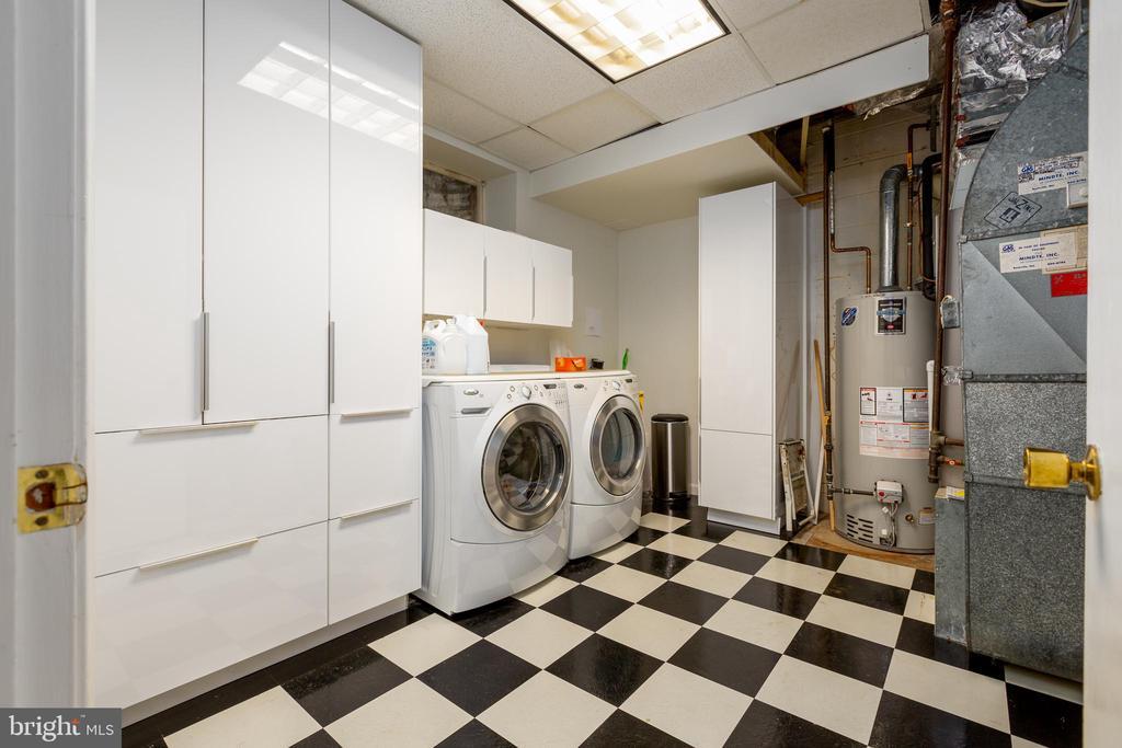 Lower level laundry room and storage - 4311 TORCHLIGHT CIR, BETHESDA