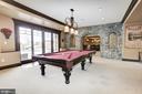 Light filled Lower Level Billiard Room - 13509 PATERNAL GIFT DR, HIGHLAND