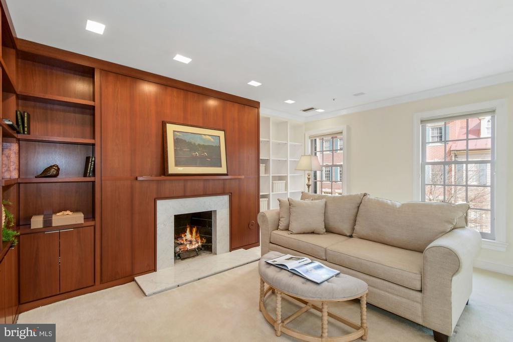 Features include a gas fireplace and built-ins - 19 WILKES ST, ALEXANDRIA